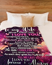 "TO MY WIFE Large Fleece Blanket - 60"" x 80"" aos-coral-fleece-blanket-60x80-lifestyle-front-02"