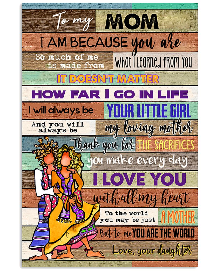 TO MY MOM - HIPPIE - MY LOVING MOTHER 16x24 Poster