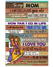 TO MY MOM - HIPPIE - MY LOVING MOTHER 16x24 Poster front