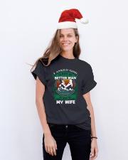 HUSBAND T-SHIRT Classic T-Shirt lifestyle-holiday-crewneck-front-1