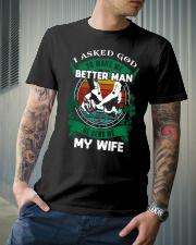 HUSBAND T-SHIRT Classic T-Shirt lifestyle-mens-crewneck-front-6