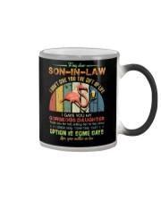 To My Son-in-law - Flamingo - Circus - Mug Color Changing Mug tile