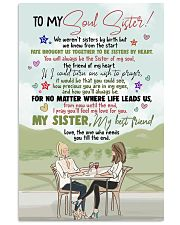 TO MY SOUL SISTER - GIRLS - MY BEST FRIEND 16x24 Poster front