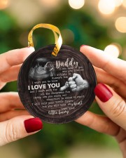 Christmas - I Can Hear You Say You love Me  Circle ornament - single (porcelain) aos-circle-ornament-single-porcelain-lifestyles-08