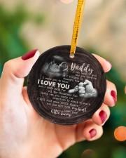 Christmas - I Can Hear You Say You love Me  Circle ornament - single (porcelain) aos-circle-ornament-single-porcelain-lifestyles-09