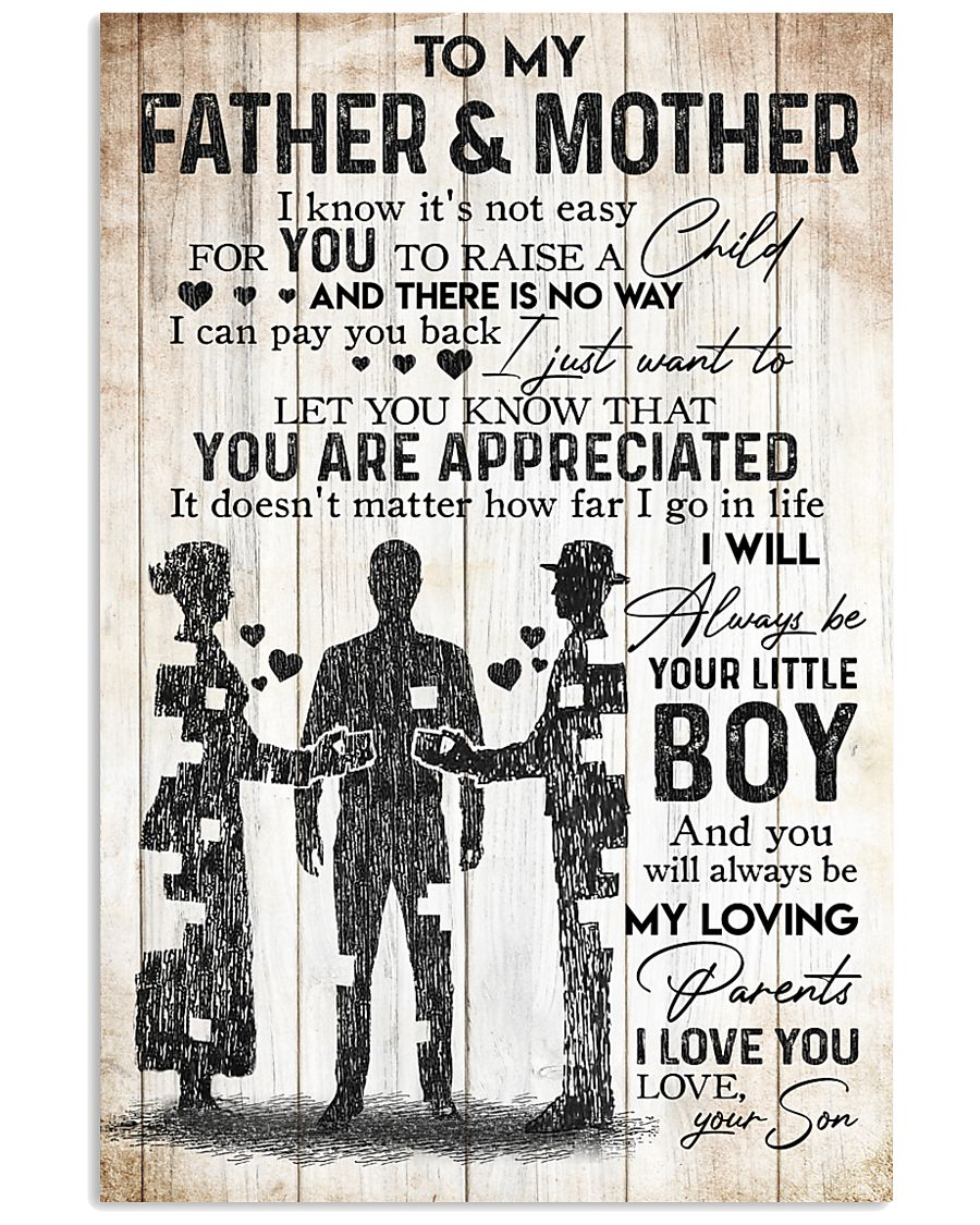 SON TO FATHER AND MOTHER 16x24 Poster