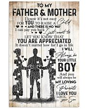 SON TO FATHER AND MOTHER 16x24 Poster front