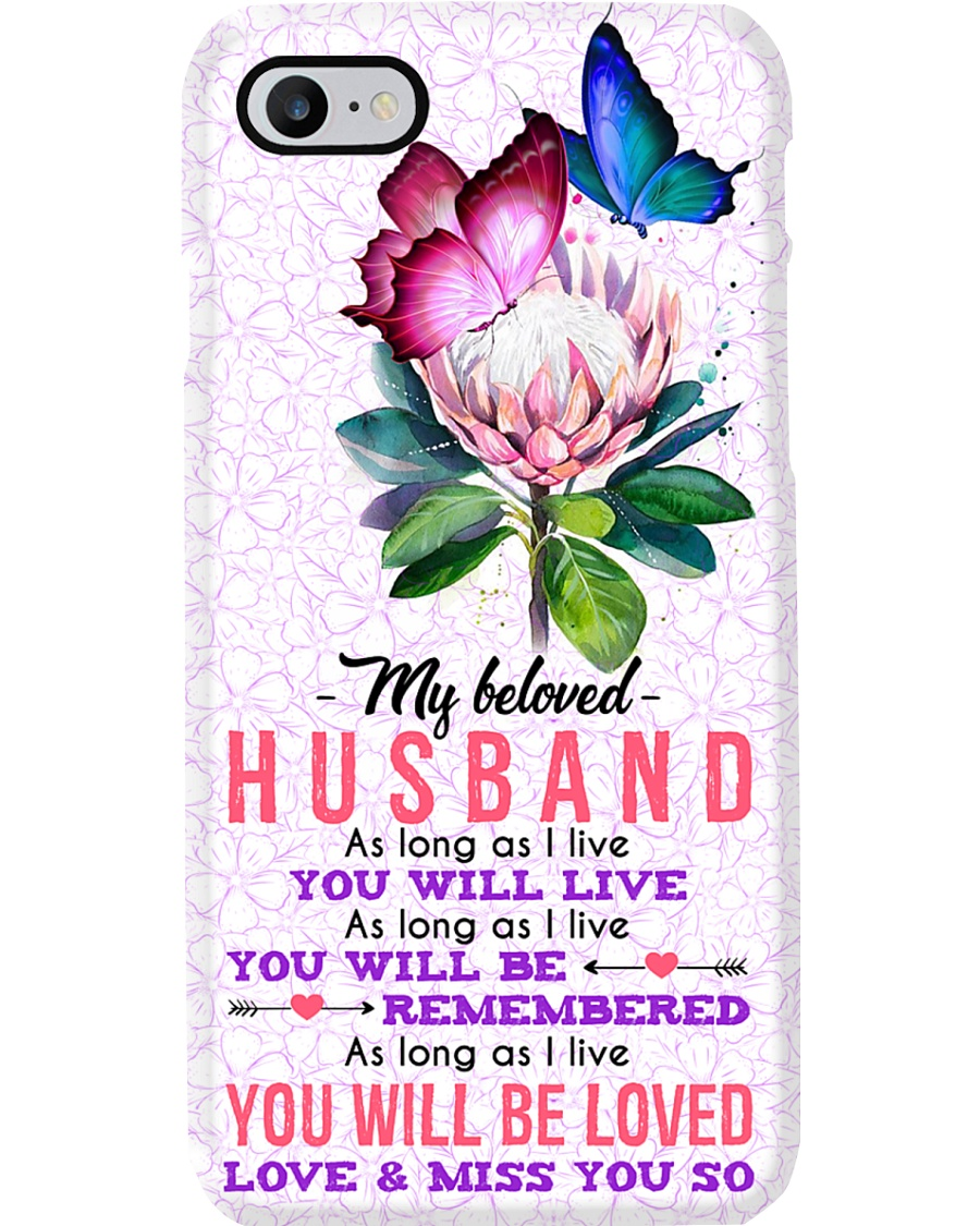 MY ANGEL HUSBAND - BUTTERFLY - MISS YOU Phone Case