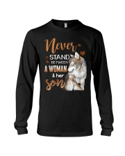 NEVER STAND - WOLF - WOMAN AND HER SON Long Sleeve Tee thumbnail