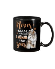 NEVER STAND - WOLF - WOMAN AND HER SON Mug thumbnail