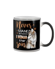 NEVER STAND - WOLF - WOMAN AND HER SON Color Changing Mug thumbnail