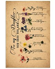 To Daughter - Flowers - God Says You Are - Canvas 11x17 Poster thumbnail
