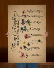 To Daughter - Flowers - God Says You Are - Canvas 20x30 Gallery Wrapped Canvas Prints aos-canvas-pgw-20x30-lifestyle-front-22