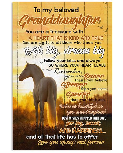 TO MY BELOVED GRANDDAUGHTER