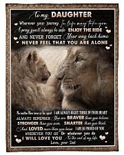 To Daughter - Lion - Wherever Your Journey Fleece Blanket tile