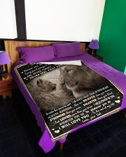 "To Daughter - Lion - Wherever Your Journey Large Fleece Blanket - 60"" x 80"" aos-coral-fleece-blanket-60x80-lifestyle-front-01"