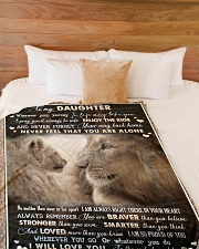 "To Daughter - Lion - Wherever Your Journey Large Fleece Blanket - 60"" x 80"" aos-coral-fleece-blanket-60x80-lifestyle-front-02"