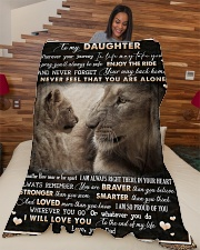 "To Daughter - Lion - Wherever Your Journey Large Fleece Blanket - 60"" x 80"" aos-coral-fleece-blanket-60x80-lifestyle-front-04"