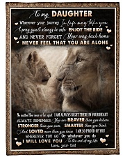 "To Daughter - Lion - Wherever Your Journey Large Fleece Blanket - 60"" x 80"" front"