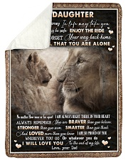 "To Daughter - Lion - Wherever Your Journey Large Sherpa Fleece Blanket - 60"" x 80"" thumbnail"
