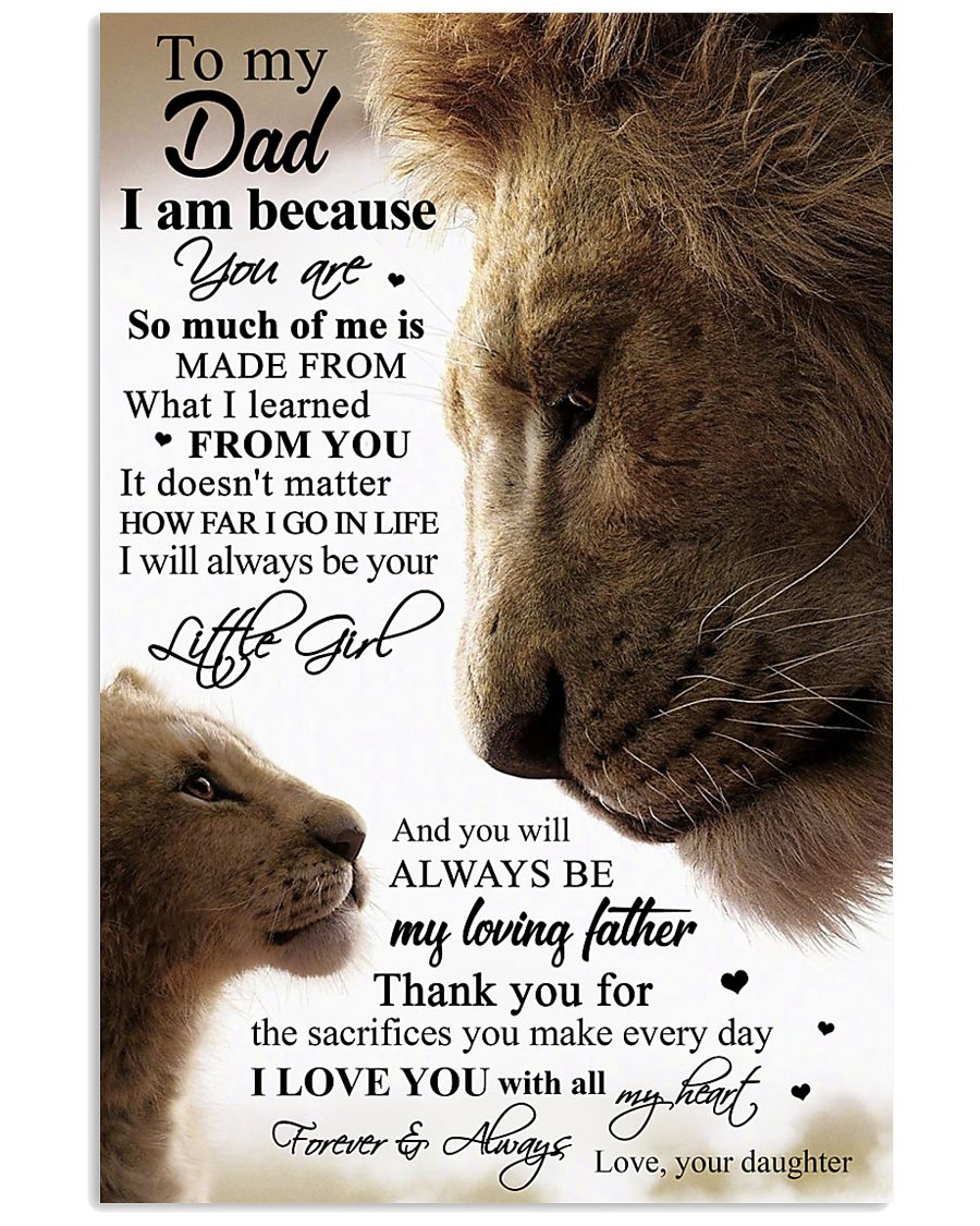 POSTER - TO MY DAD - LION 16x24 Poster