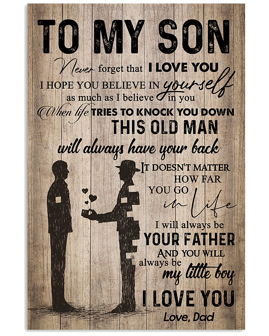 DAD TO SON 16x24 Poster