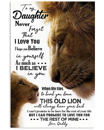 POSTER - TO MY DAUGHTER - DADDY - NEVER FORGET