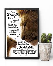 POSTER - TO MY DAUGHTER - DADDY - NEVER FORGET 16x24 Poster lifestyle-poster-8