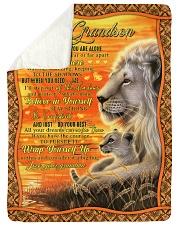 To Grandson - Just Do Your Best - Fleece Blanket Sherpa Fleece Blanket tile