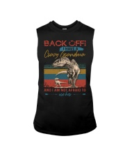 GRANDMA TO GRANDSON - BACK OFF - USE HER Sleeveless Tee tile