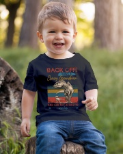 GRANDMA TO GRANDSON - BACK OFF - USE HER Youth T-Shirt lifestyle-youth-tshirt-front-4