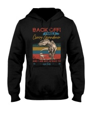 GRANDMA TO GRANDSON - BACK OFF - USE HER Hooded Sweatshirt tile