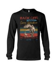 GRANDMA TO GRANDSON - BACK OFF - USE HER Long Sleeve Tee tile