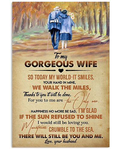 POSTER - TO MY WIFE - COUPLE - YOU AND ME