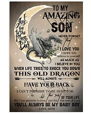 MOM TO SON - DRAGON MOON - BABY BOY 16x24 Poster front
