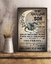 MOM TO SON - DRAGON MOON - BABY BOY 16x24 Poster lifestyle-poster-3