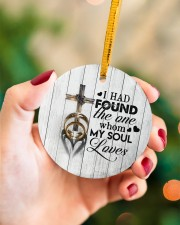 To My Wife - Cross - I had found the one whom  Circle ornament - single (porcelain) aos-circle-ornament-single-porcelain-lifestyles-09