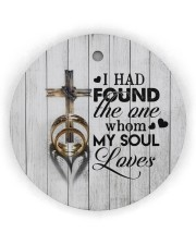 To My Wife - Cross - I had found the one whom  Circle ornament - single (wood) thumbnail