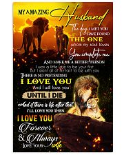 TO MY HUSBAND - LION - I LOVE YOU 16x24 Poster front