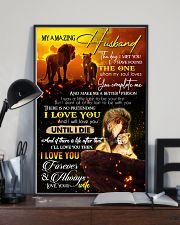 TO MY HUSBAND - LION - I LOVE YOU 16x24 Poster lifestyle-poster-2