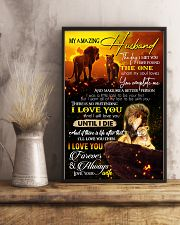 TO MY HUSBAND - LION - I LOVE YOU 16x24 Poster lifestyle-poster-3