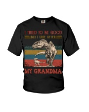TO GRANDSON - T REX - TAKE AFTER Youth T-Shirt front