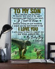 Mom To Son - t rex - never Feel That You  16x24 Poster lifestyle-poster-2