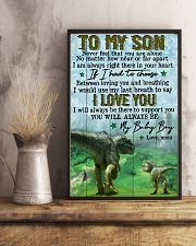 Mom To Son - t rex - never Feel That You  16x24 Poster lifestyle-poster-3