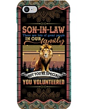 Son-in-law - Lion - You Volunteered - Poster Phone Case tile