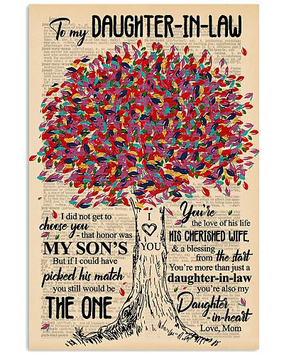 TO MY DAUGHTER-IN-LAW - TREE ART - THE ONE
