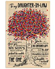 TO MY DAUGHTER-IN-LAW - TREE ART - THE ONE 16x24 Poster front