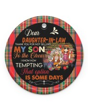 Dear Daughter-in-law - Hippie - Circus  Circle ornament - single (porcelain) front
