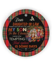 Dear Daughter-in-law - Hippie - Circus  Circle ornament - single (wood) thumbnail