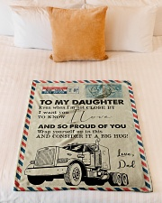 """Trucker - I'm Not Close by - Fleece Blanket Small Fleece Blanket - 30"""" x 40"""" aos-coral-fleece-blanket-30x40-lifestyle-front-04"""